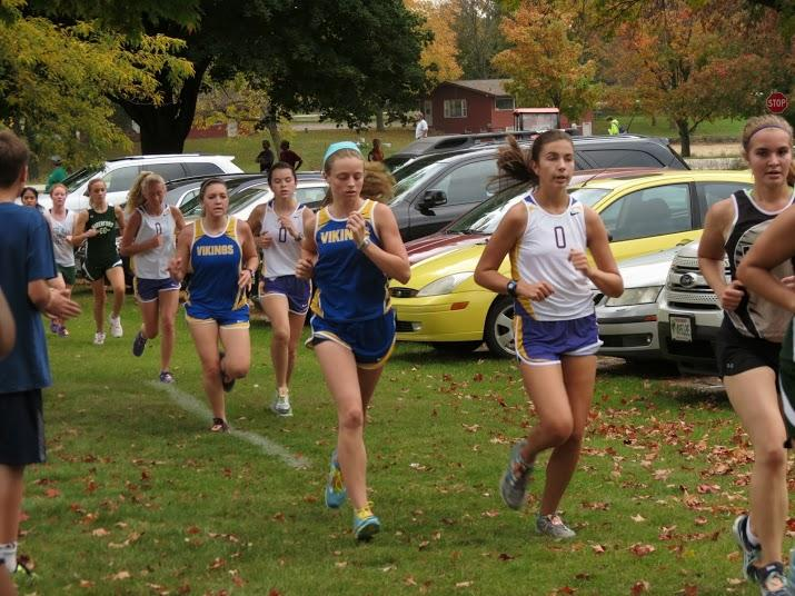 Sophmore Liz Doty runs in the Mukwonago Invitational on October 3rd. Junior Varsity came in 3rd overall.