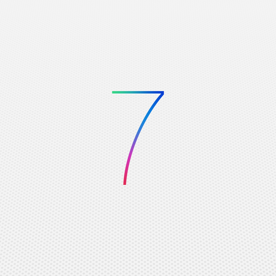 Apple's logo for the new iOS 7. The update has drawn comparison's to Android's interface.