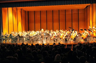 Honors orchestra performs at the pops concert. They were the first to perform on the night.