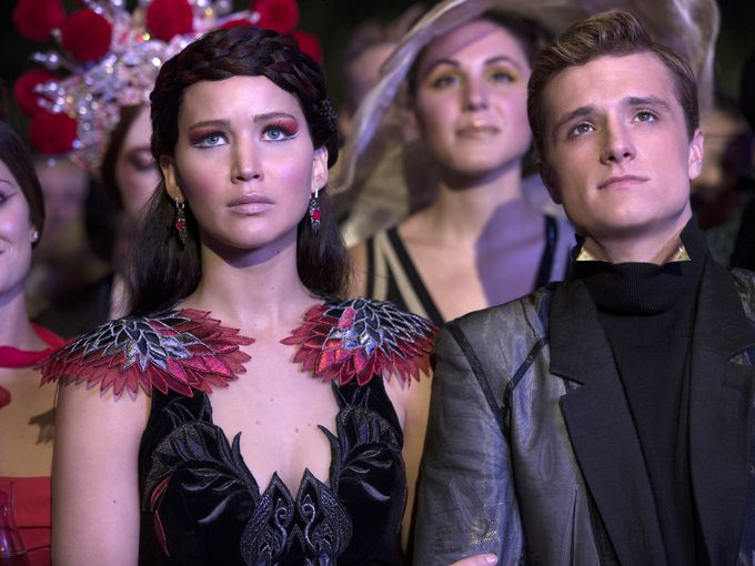 The+long+awaited+movie+Catching+Fire+mesmerizes+the+audience.+It+is+the+second+movie+in+the+Hunger+Games+Trilogy.+