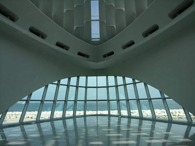 View+inside+the+Milwaukee+Art+Museum.+They+hold+yoga+classes+there+every+month.+