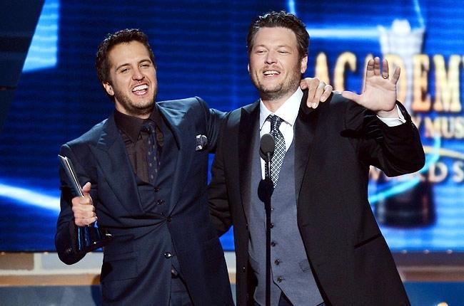 Blake+Shelton+and+Luke+Bryan+host+the+ACM+Awards.+Both+men+also+performed.+