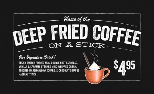One highlight of the fall season at a local coffee shop. A unique touch added to the menu for limited time only.
