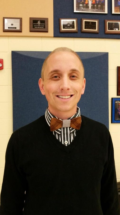 Band Director Ekenberg, enjoying his first few months at West. He has previously taught at smaller districts, but is settling into New Berlin with ease.