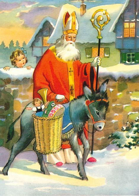 An image presenting some of the known traditions of the St. Nick celebration around the world.