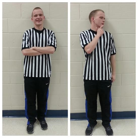 Tanner Kronshage took a shine to officiating the 2015 Dodgeball Tournament.