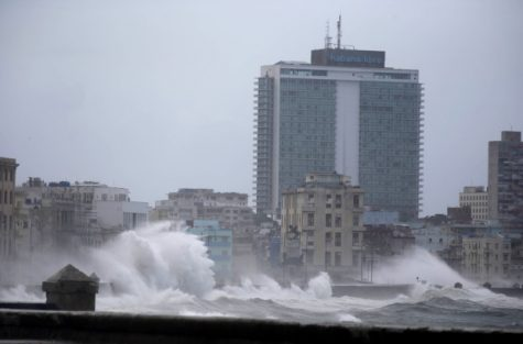 Waves surge over a sea wall in Havana, Cuba, Saturday, Sept. 9, 2017. There were no reports of deaths or injuries after heavy rain and winds from Hurricane Irma lashed northeastern Cuba. (AP Photo/Ramon Espinosa)