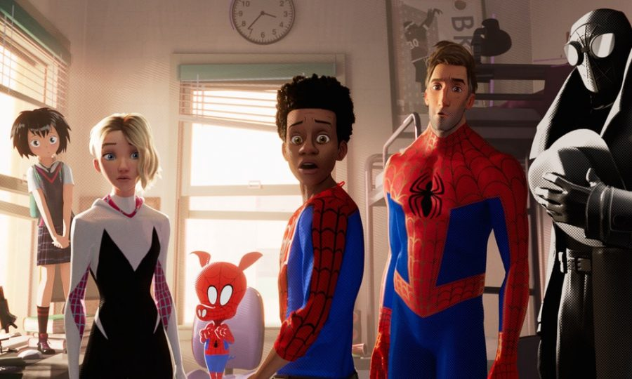 A shot of all the main heroes that star in the film.